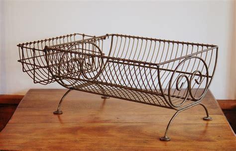 farmhouse wire dish rack iron scroll countertop dish dryer