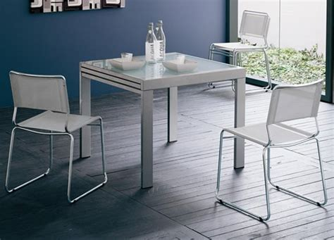table carree en verre avec rallonge frunty table 90 x 90 cm 224 rallonge satin 233 e verre neutre