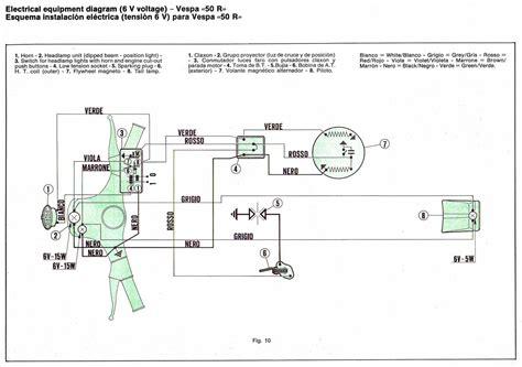 vespa 50 wiring diagram
