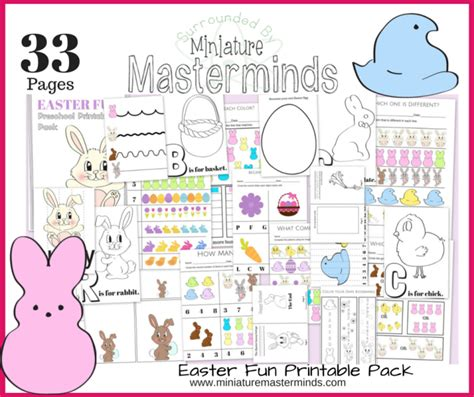 33 Pages Of Easter Fun Free Preschool And Toddler Printable Activities