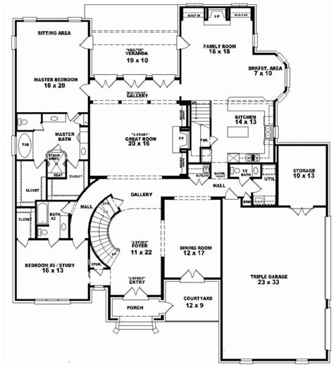Caribbean Mediterranean House Plans Two Story Waterfront
