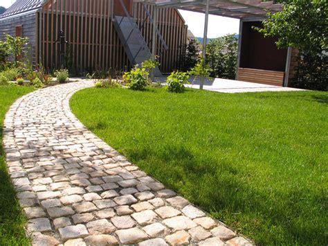 Gartenwege Pflastern Beispiele gartenwege pflaster steine gartengestaltung gartenbau
