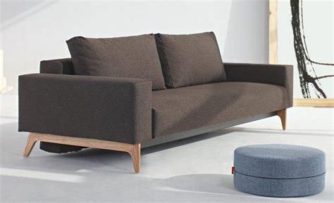 idun canape design marron convertible lit 200 140 cm par innovation living