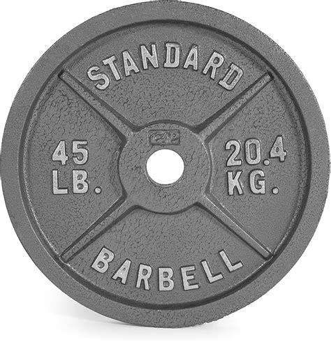 amazon  cap barbell  lb gray olympic weight plate single