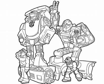 Rescue Coloring Bots Transformers Pages Printable Chase