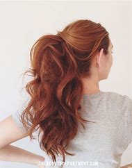 Easy Ponytail Hairstyle for Thick Hair