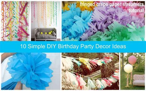diy birthday ideas outdoor party decoration ideas dream house experience