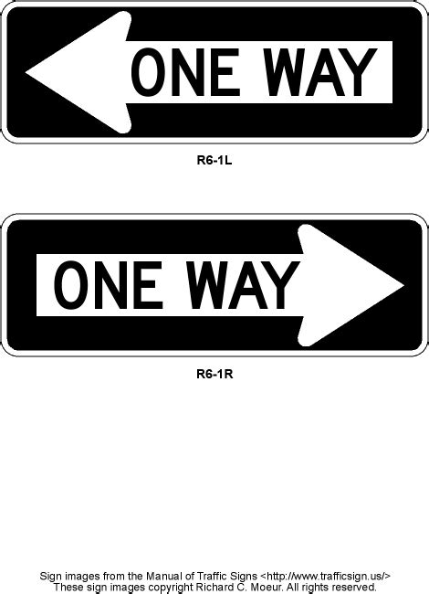Manual of Traffic Signs - R6 Series Signs