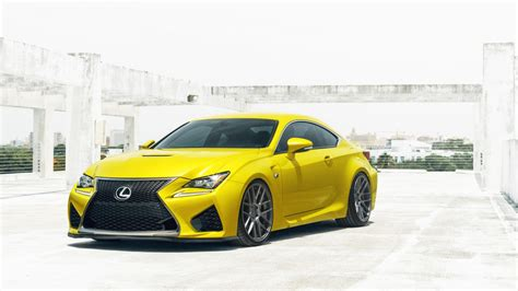 lexus rcf sedan yellow lexus rcf wallpaper hd car wallpapers