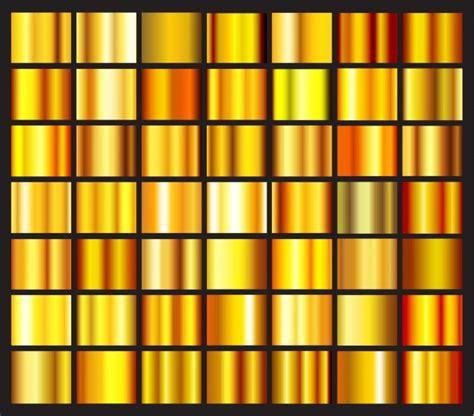 gold color photoshop golden gradients collectio vector free