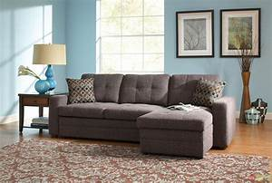 gray button tufted convertable sectional sleeper sofa w With tufted pull out sofa bed