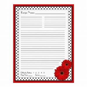 Red Gerbera Polka Dot Binder Recipe Inserts Flyer Design