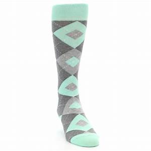mint gray argyle wedding groomsmen mens dress socks With wedding dress socks