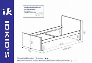 Lit Enfant Dimension : lit enfant pacome lin idkid 39 s ~ Teatrodelosmanantiales.com Idées de Décoration
