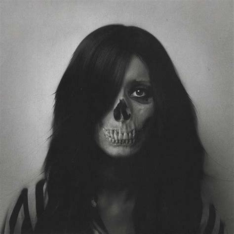 Eerie Skull Infused Portraits
