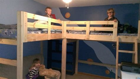 shaped bunk bed plans bed plans diy blueprints