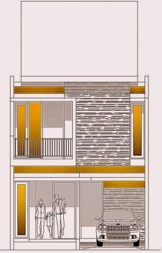 desain rumah minimalis  lantai diatas tanah