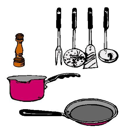 coloriage ustensiles cuisine