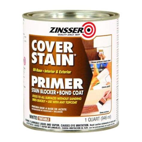 zinsser  qt white cover stain oil based interior