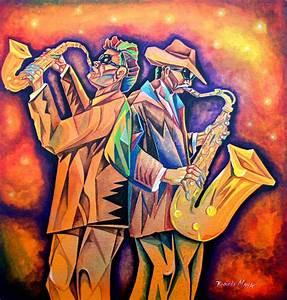 Latin Jazz Painting by Ricardo Maya