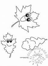 Autumn Fall Leaf Clip Coloring Nature Leaves Reddit Coloringpage sketch template