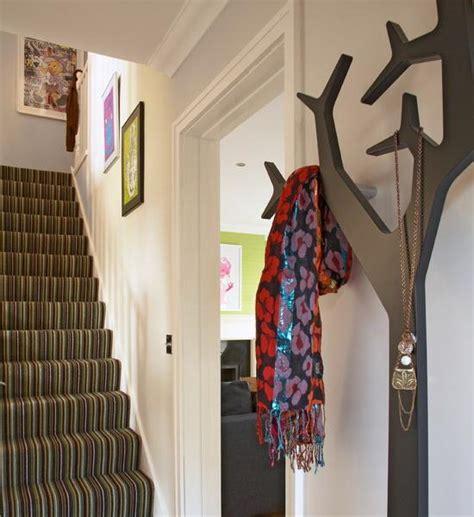 diy tree coat racks personalizing entryway ideas