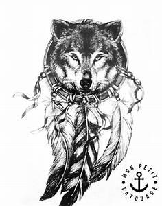 Loup Tatouage Signification : tatouage loup et attrape r ves mon petit tatouage temporaire ~ Dallasstarsshop.com Idées de Décoration