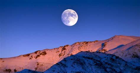 snow moon   full moon  february