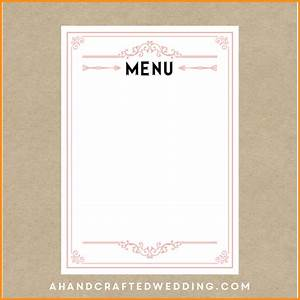 empty menu template pertaminico With free restaurant menu templates for mac
