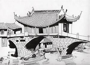 Maison Japonaise Dessin : dessin paysage japonais trouver des id es pour voyager en asie ~ Melissatoandfro.com Idées de Décoration