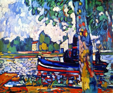 Tugboat On The Seine Chatou by De Vlaminck Maurice Arts Before 1945 The List