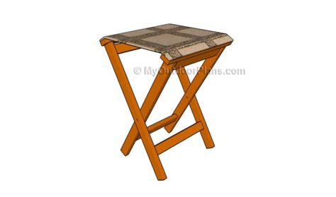folding stool plans myoutdoorplans  woodworking
