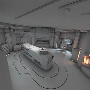 Spaceship Interior HD 3 3D Model OBJ FBX LWO LW LWS BLEND ...