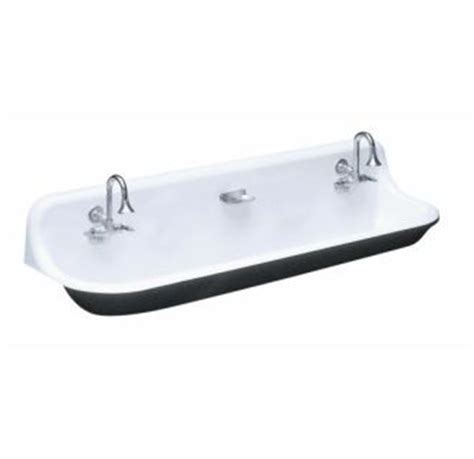 kohler k 3202 0 white brockway 4ft wash sink with