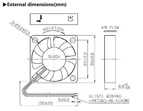 standaard sunon   mm afzuiging ventilator