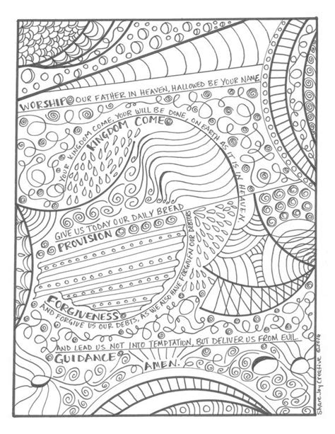 lords prayer coloring page