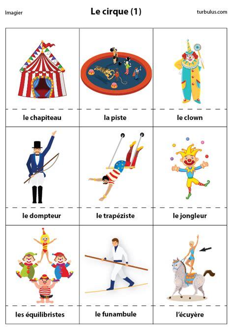 vocabulaire de cuisine en anglais imagier le cirque 1 turbulus jeux pour enfants