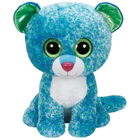 pelucha ty beanie boos leona mediano cm leopardo azul