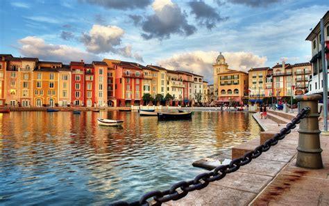 Portofino Backgrounds by Portofino Italy Building City Boat Chains Sea