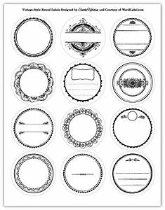 round labels in a vintage style design worldlabel blog With free sticker templates for printing