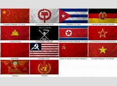 Communist Flag Pack [China; Cuba GDP; DPR Korea; Red Army