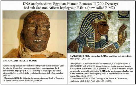 dna evidence on pharaohs ramses iii a sub saharan black humans are free