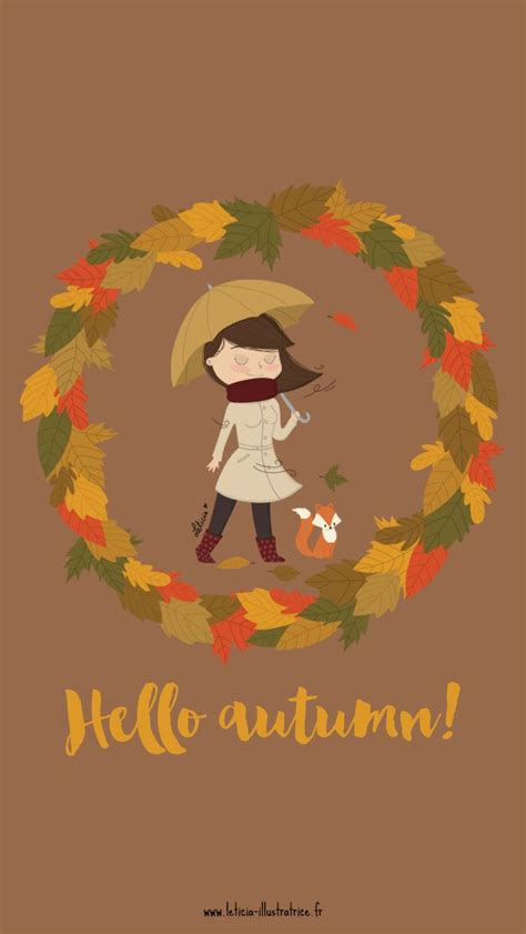 Girly Simple Fall Backgrounds by Hello Autumn Fox Iphone Lock Wallpaper Panpins