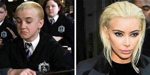 Tom Felton Reacts to Kim Kardashian's Blonde With Draco ...