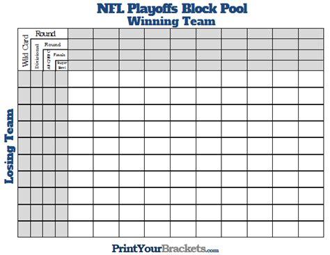 printable nfl playoffs block pool