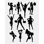 Cheerleader Silhouette Dance Team Pose Easy Use