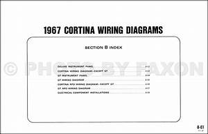1967 Ford Cortina Wiring Diagram Original