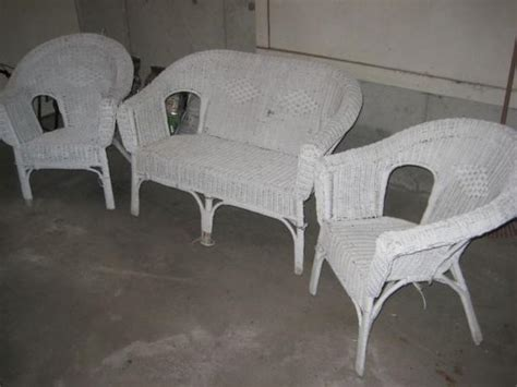 used white wicker patio furniture antique white wicker patio furniture set saanich