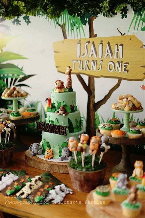 Kara's Party Ideas Jungle Themed Birthday Party Kara's