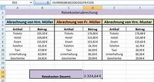 Excel Tage Aus Datum Berechnen : excel summenfunktion office ~ Themetempest.com Abrechnung